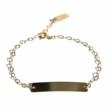 This Gold Bar Bracelet was a natural evolution for the brand.  It can be inscribed with anything your heart desires.