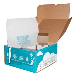 MailPix provides an EasyShip Kit (for a fee) to package photos, slides and negatives safely and securely.