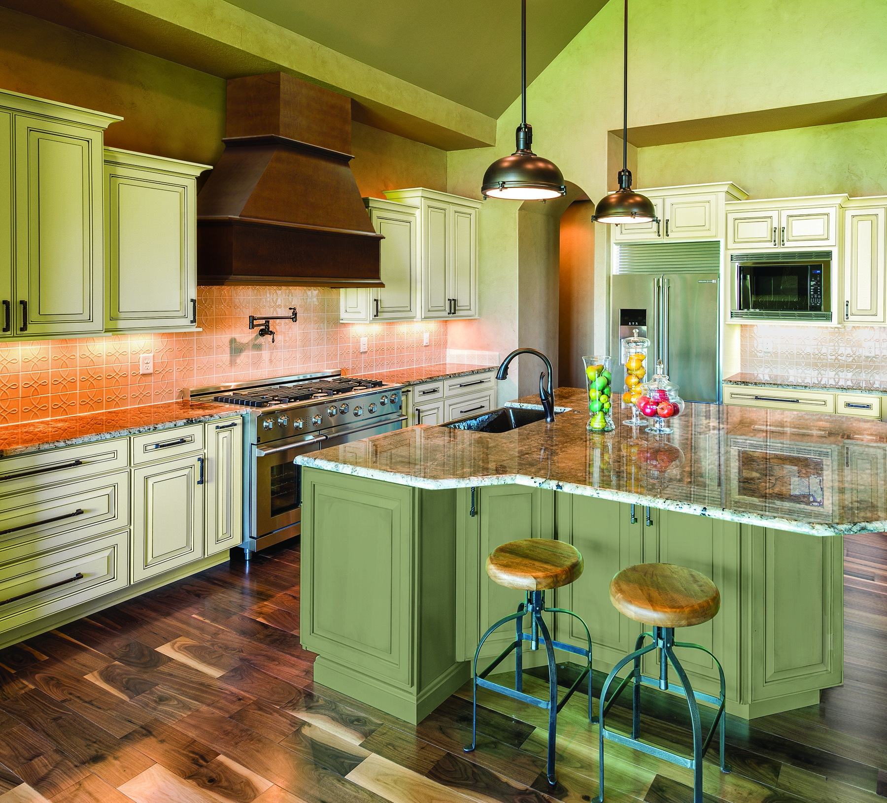 new paint colors bring high fashion home to kitchen