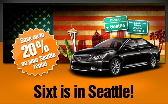 At Sixt you can rent a car in Seattle at several convenient locations. You can pick up your rental vehicle directly in downtown Seattle or at the Seattle-Tacoma International Airport, also known as SEA-TAC. We offer a comprehensive fleet of rental cars that can meet your mobility needs.