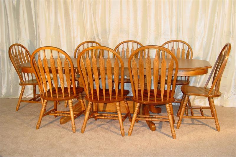 efurniturehousecom introduces a complete new line of solid oak tables - Oak Dining Table Set