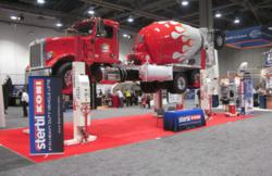 Stertil-Koni Wireless Mobile Column Lifts at World of Concrete