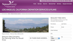 Los Angeles cremation services from Neptune Society Sherman Oaks