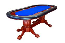 Rockwell Furniture Poker Table in Blue