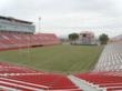 Sam Boyd Stadium fully covered with sod one week before the Rugby Sevens Event in Las Vegas.