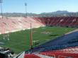 Sam Boyd Stadium pepared for the 2013 Rugby Sevens Event in Las Vegas.