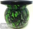 Green Mr. Creepy Mud Jug