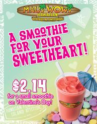 Maui Wowi Valentine's Day Promo