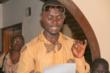 A Sierra Leone Actor Auditions for Role in Radio Drama.