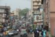 A street scene near the PMC studio in Freetown, Sierra Leone.