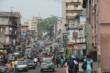 A street scene near the PMC studio in Freetown, Sierra Leone.