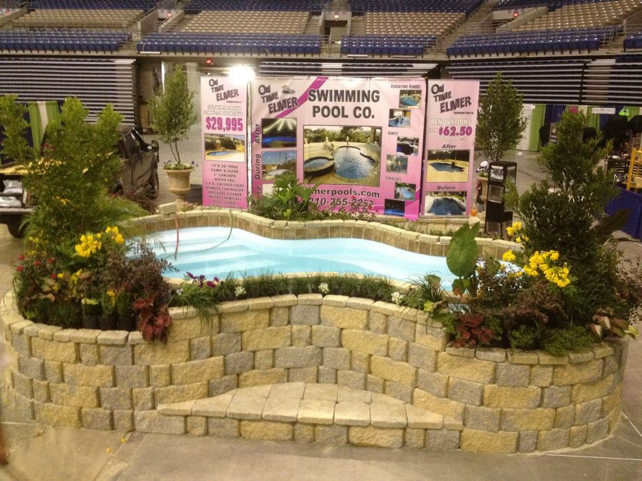 On time elmer swimming pool company featured at san for Pool and garden show
