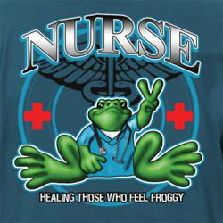 Peace Frogs nurse frog.