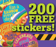 Celebrate Good Nutrition Stickers from Learning Zone Express