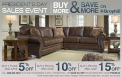 Celebrates president s day with for Presidents day furniture sales