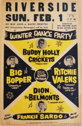 Buddy Holly 1959 Winter Dance Riverside Ballroom Green Bay, Wisconsin Concert Poster