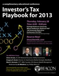 Investor's Tax Playbook for 2013
