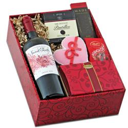 Sweet Tooth Red Wine &amp; Gourmet Gift Box