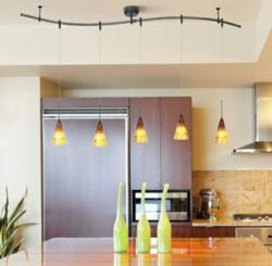 Kitchen Track Lighting Can Be Used with Pendant Lights