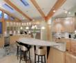 Illuminated Kitchen Using Under Cabinet Lights and Track Lights