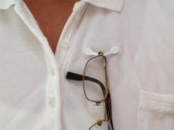 Readerest or Reader Rest Eyeglass Holder Hanger