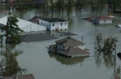 Picture of flooded houses