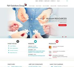 F&H Solutions Group's New Website Homepage