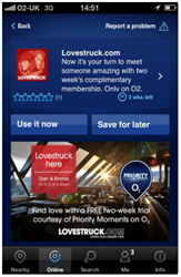 Lovestruck.com offers two weeks complimentary membership with Priority Moments from O2