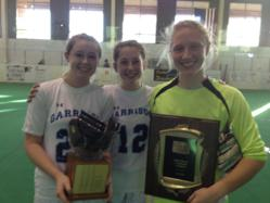 Garrison Forest School Indoor Soccer tri-captains
