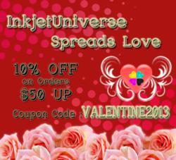 InkJet Universe Valentines Day Promo