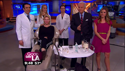 Dr. Simon Ourian demonstrated non-surgical mini-facelift on Fox TV's Good Day L.A.