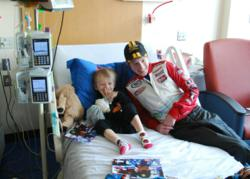 David Levine Visits Young Heart Patients at Comers Children's Hospital (Chicago)