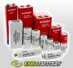Exell Batteries replace Eveready Hobby, Specialty and Photo Batteries