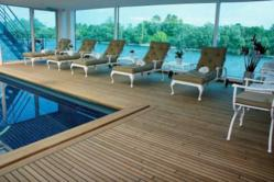 Pool Deck On a Deluxe River Cruise