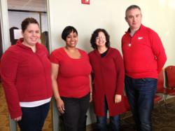 Life Line Screening participating in Wear Red Day 2013