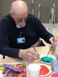 PACE facility offers watercolor classes through use of FaceTime technology.