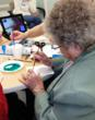 Participants at PACE enjoy watercolor classes via FaceTime.