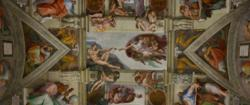 Michelangelo's 'Creation of Adam' in the Sistine Chapel - soon to be home to the Papal Conclave