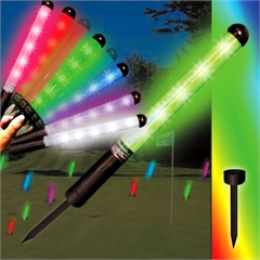 12 Inch Multi Color L.E.D. Yardage Markers with Spikes