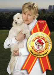 Dogington Post Announces Ellen Degeneres as Best Dog-Loving Celebrity for 2012