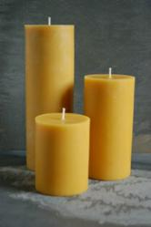Hand Poured, 100% Pure Beeswax Pillar Candles - Mohawk Valley Trading Company