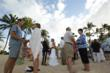 More than 50 couples celebrated Valentine's Day renewing their marriage vows on the beach at Hawaii's Ko Olina Resort