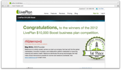 LivePlan Boost Business Plan Competition