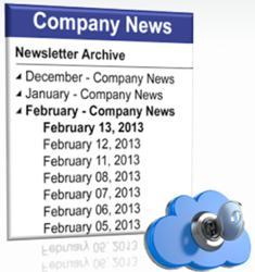 InfoDesk Newsletter Archive iWidget
