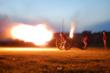 Cannon Firing a Salute at Fort Adams