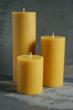 Hand Poured Beeswax Pillar Candles - Mohawk Valley Trading Company