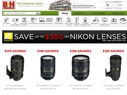Nikon Instant Saving Rebate on Nikkor Lenses