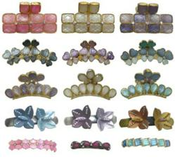 Jaw clips and hair barrettes in lovely spring colors