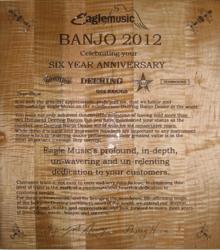Deering Banjos Master Dealership Award