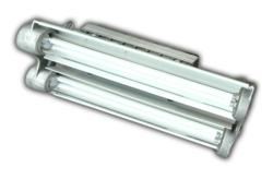 Compact Two Foot Four Lamp Explosion Proof Fluorescent Fixture